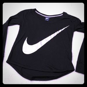 Nike women's swoosh sign long sleeve shirt.